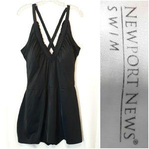 Newport News Black Swim Dress